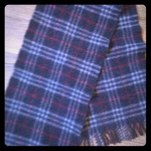 Auth Lambswool Burberry Scarf